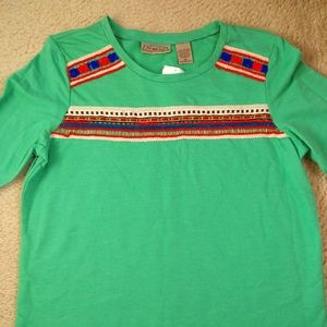 Art and Soul Green Top Size M